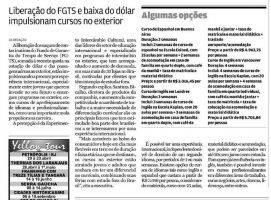 Liberação do FGTS e baixa do dólar impulsionam cursos no exterior